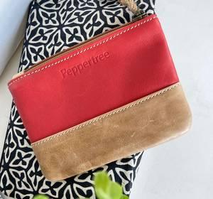 Bilde av Pengepung i rødt skinn - Red Zip purse