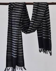 Bilde av Henok svart skjerf i bomull og silke