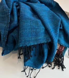 Bilde av Joia - Blått skjerf i silke og bomull -