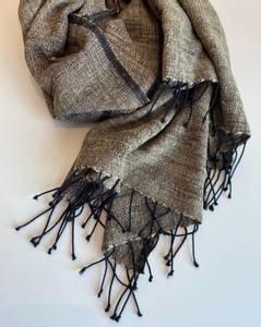Bilde av Joia - Beige skjerf i silke og bomull