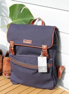 Bilde av Canvas ryggsekk - Trendy backpack Blå