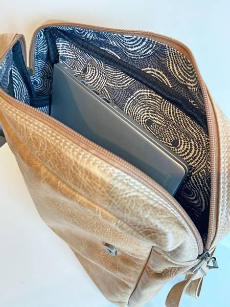 Skinnsekk lysebrun - Trendy backpack Hazelnut