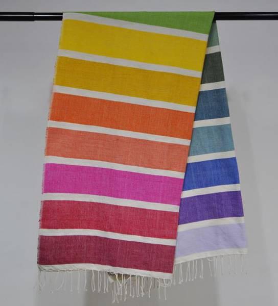 Badehåndkle Kalam - Fair trade håndkle i regnbuefarger 100x180 c