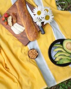 Bilde av Badehåndkle - Baro gul 100x180 cm