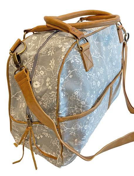 Travel Bag - Lys grå weekendbag Wildflower