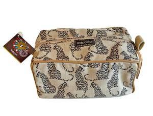 Bilde av Toalettmappe med leoparder - Offwhite