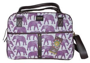 Bilde av Liten bag med elefanter - Reiseveske