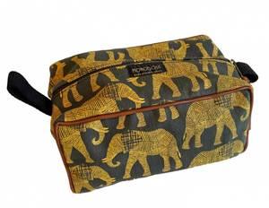 Bilde av Toalettmappe med elefanter - Elle gul