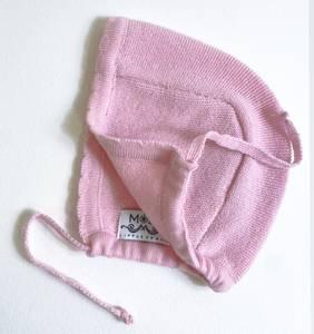 Bilde av Newborn lue i ull frisk rosa
