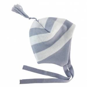 Bilde av Stripe ull lue lyseblå