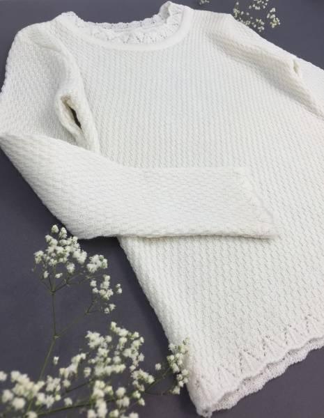Perle ullgenser hvit