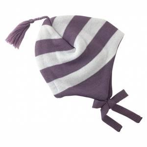 Bilde av Stripe ull lue støvlilla