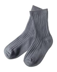 Bilde av Ribb sokker gråblå