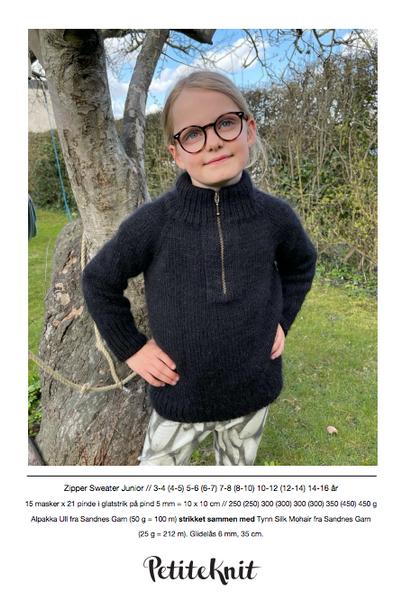 Bilde av Zipper Sweater Junior - oppskrift