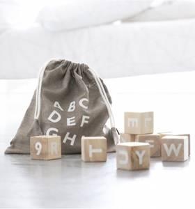 Bilde av Treklosser Alfabet / Hvit - Ooh Noo