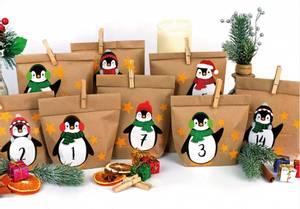 Bilde av DIY Julekalender Papirposer Pingvin -