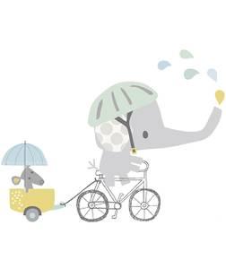 Bilde av Elefant i bil XL Wallsticker - Lilipinso