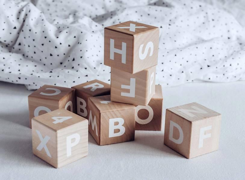 Treklosser Alfabet / Hvit - Ooh Noo
