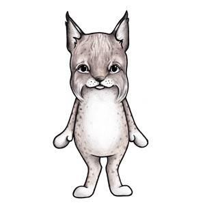Bilde av Loke The Lynx Wallsticker - Stickstay