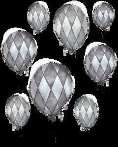 Bilde av Light & Dark Grey Balloon Wallstickers -