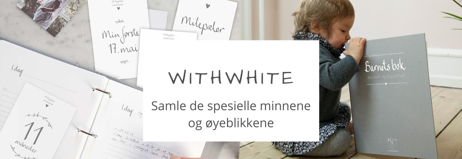 Milepælskort, Barnets Bok, Graviditetdagbok , withwhite