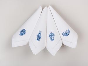 Bilde av Serviett med chinoiserie (4 stk)