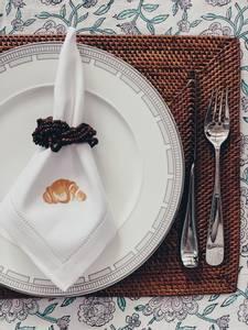 Bilde av Serviett med croissant
