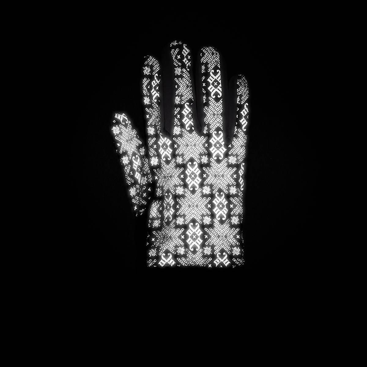Morild Glitre hansker med refleks, hvit