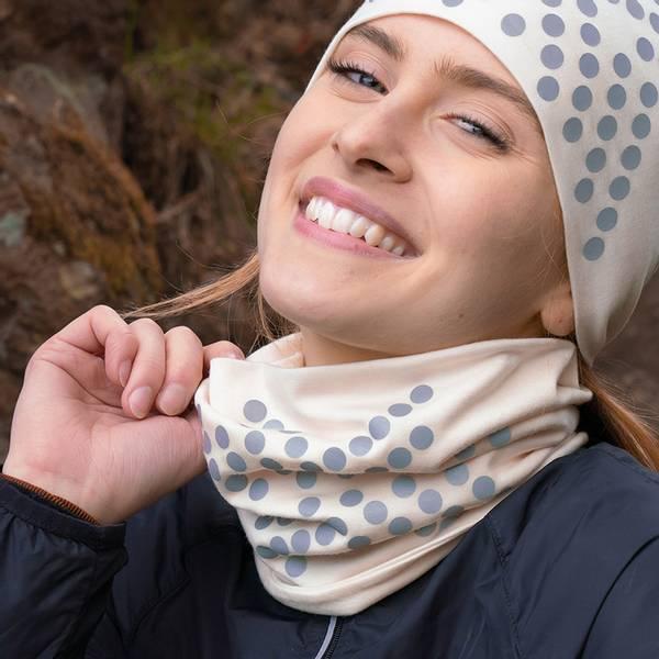 Bilde av Morild Sølvfaks hals med refleks, hvit