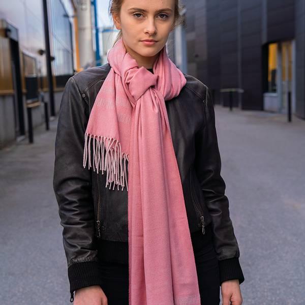 Bilde av Morild Vilje skjerf med refleks, rosa gåsøye