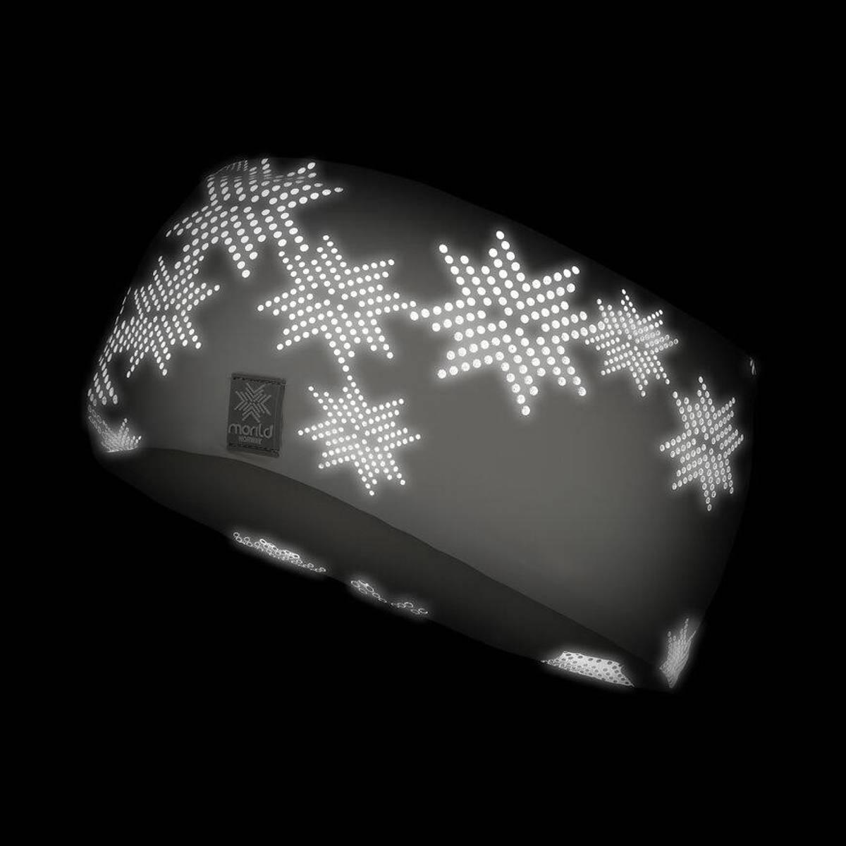 Morild Skimre pannebånd med refleks, hvit