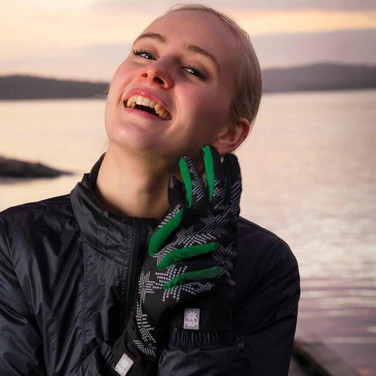 Morild Skimre hanske med refleks, furugrønn