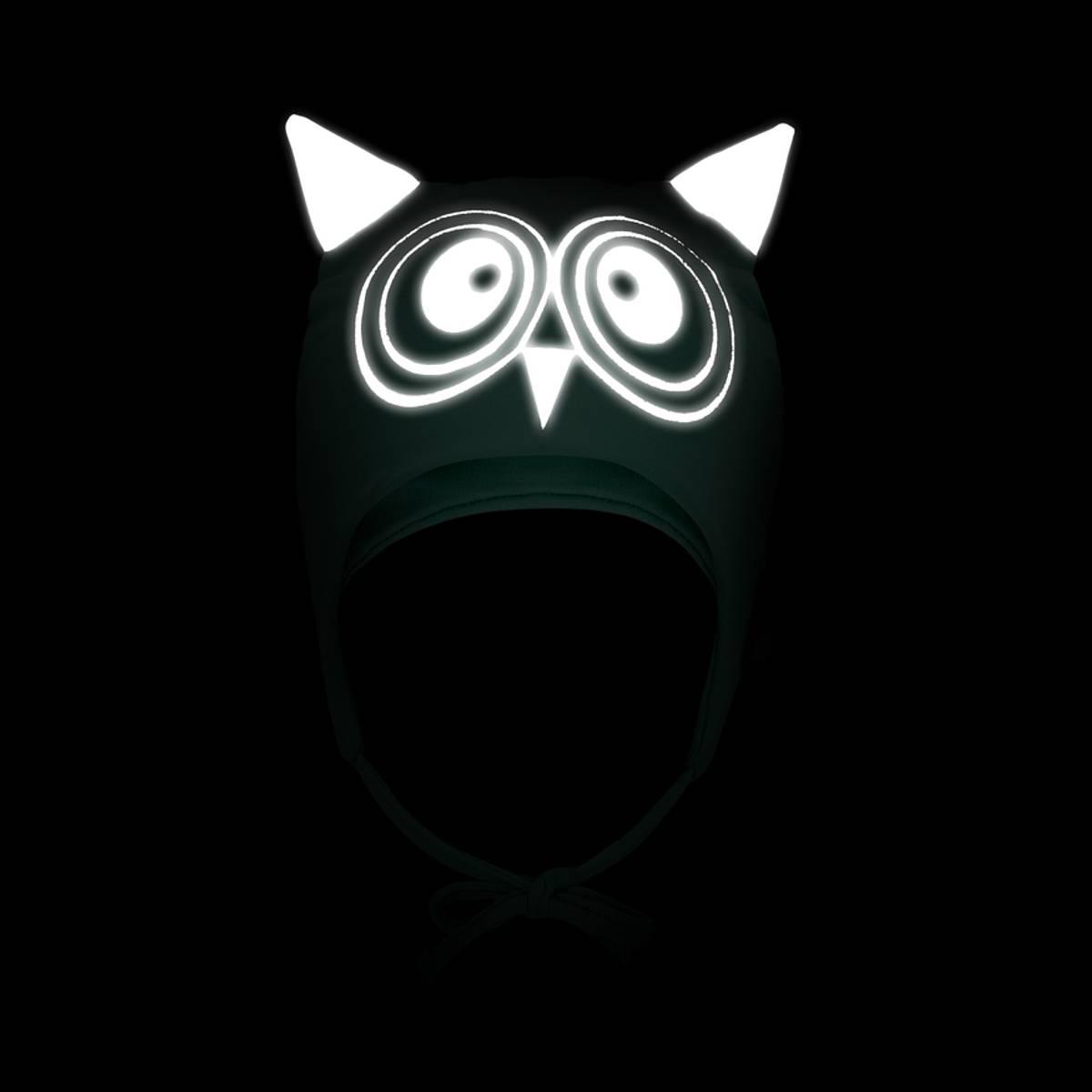 Morild Funkle snørelue med refleks, puddergrønn ugle