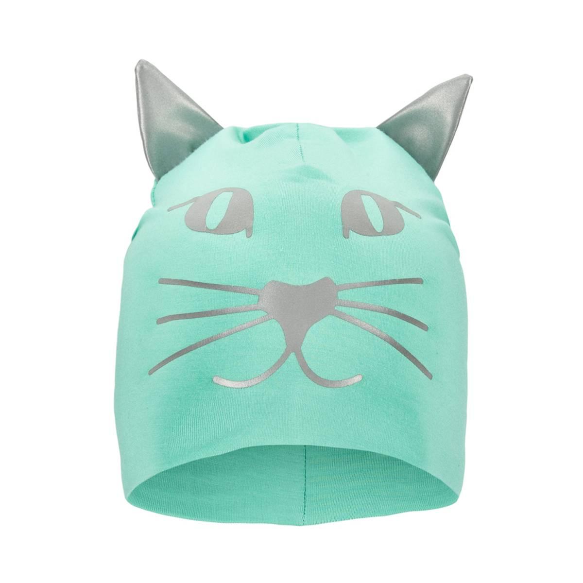 Morild Funkle lue med refleks, puddergrønn kattepus