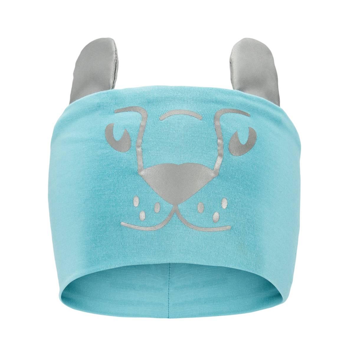 Morild Funkle pannebånd med refleks, lyseblå løveunge