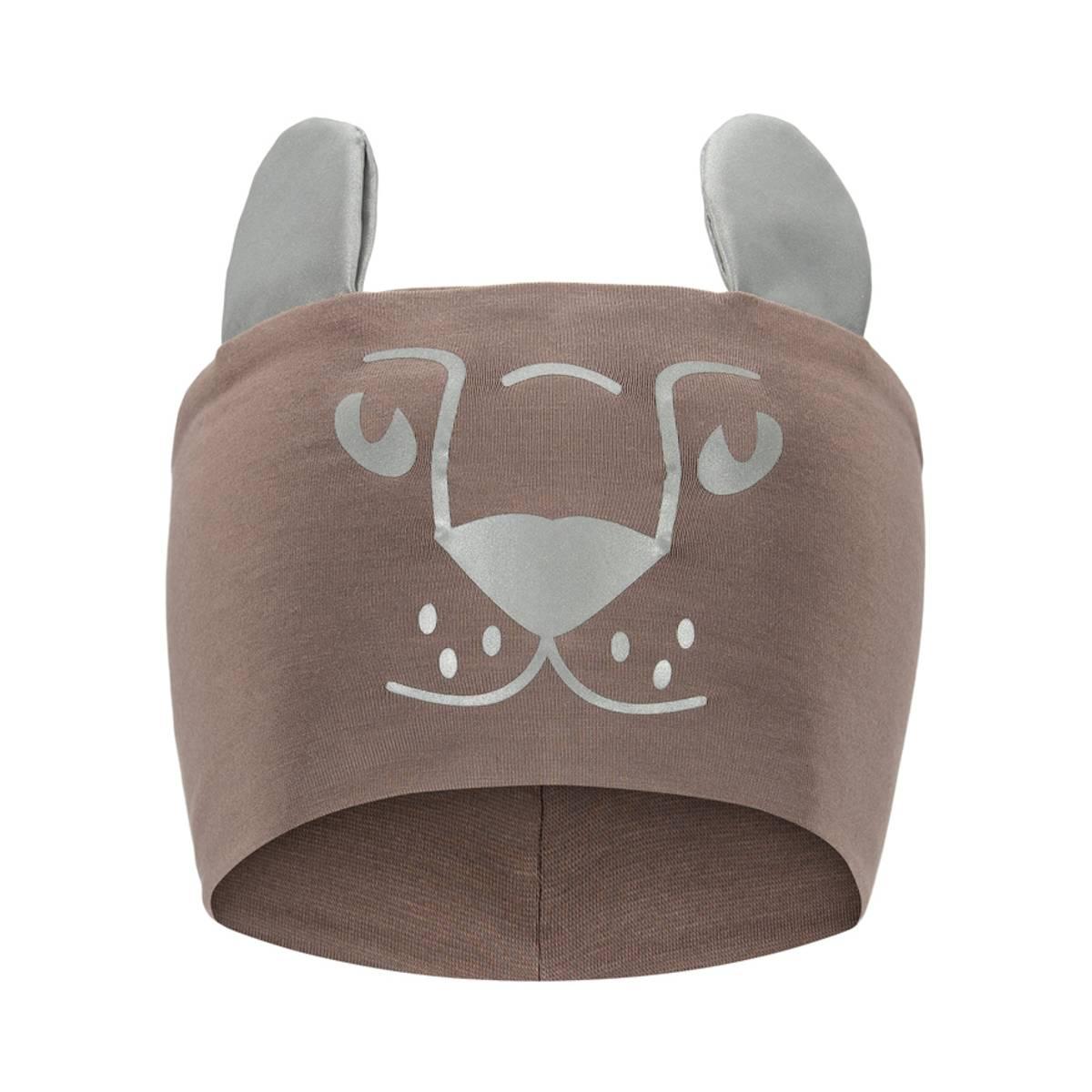 Morild Funkle pannebånd med refleks, nøttebrun løveunge