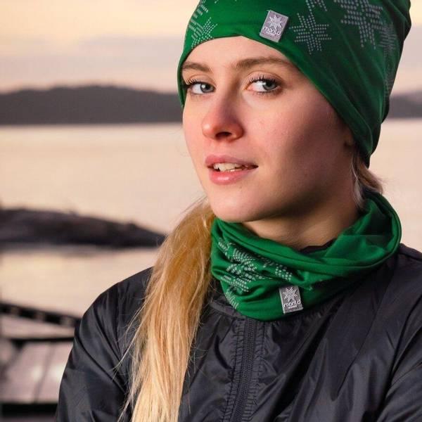 Bilde av Morild Skimre hals med refleks, furugrønn