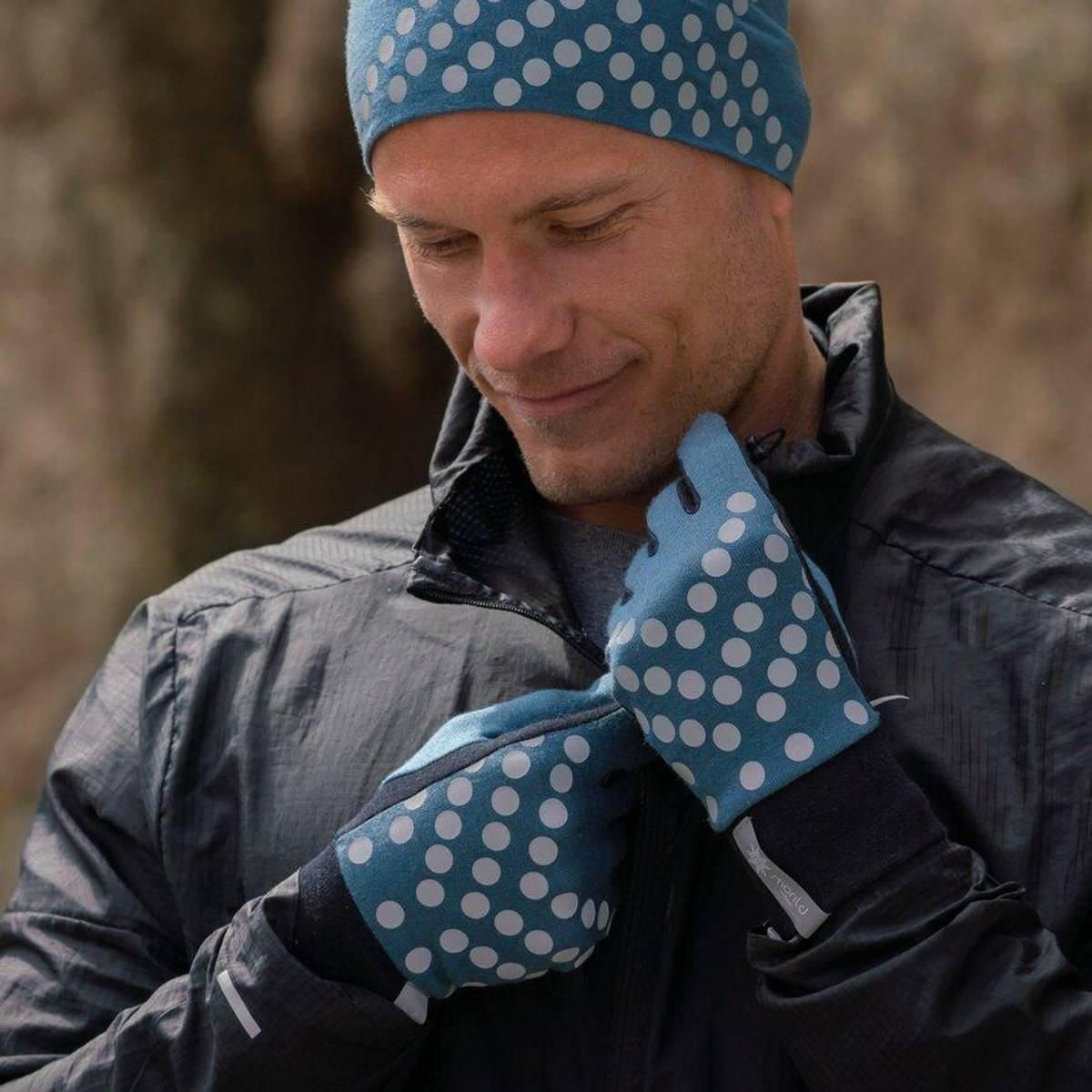 Morild Sølvfaks hansker med refleks, midnattsblå