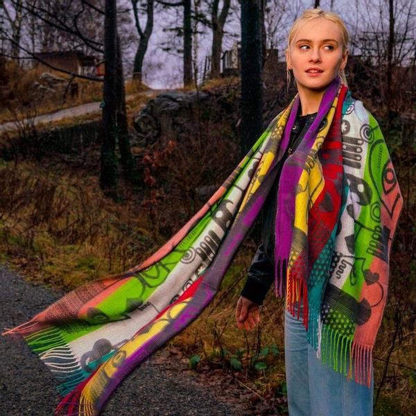 Bilde av Morild Vilje skjerf med refleks, multifarge