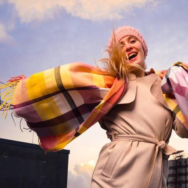 Bilde av Morild Vilje skjerf med refleks, rosa multifarge