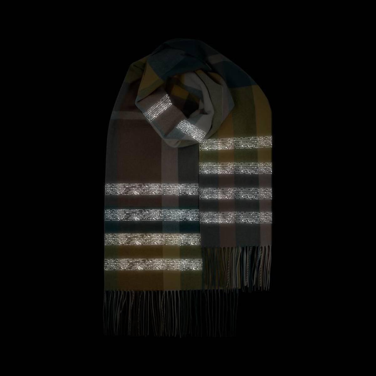 Morild Faun skjerf med refleks, brun multifarget Jord