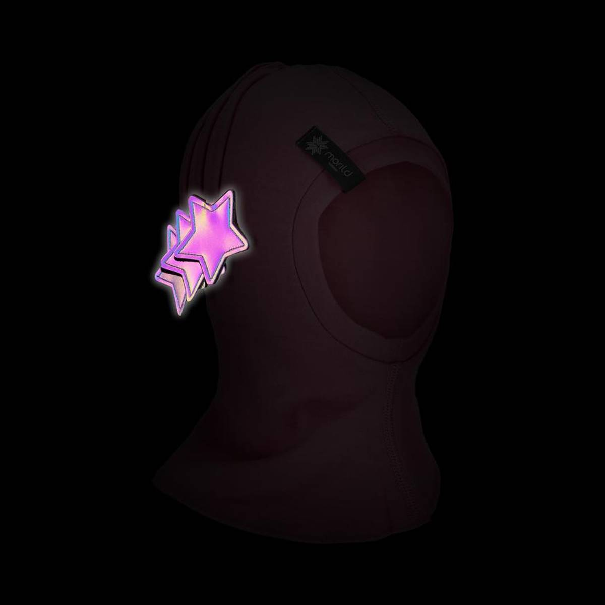 Morild Nordstjerne balaklava med refleks, lys rosa
