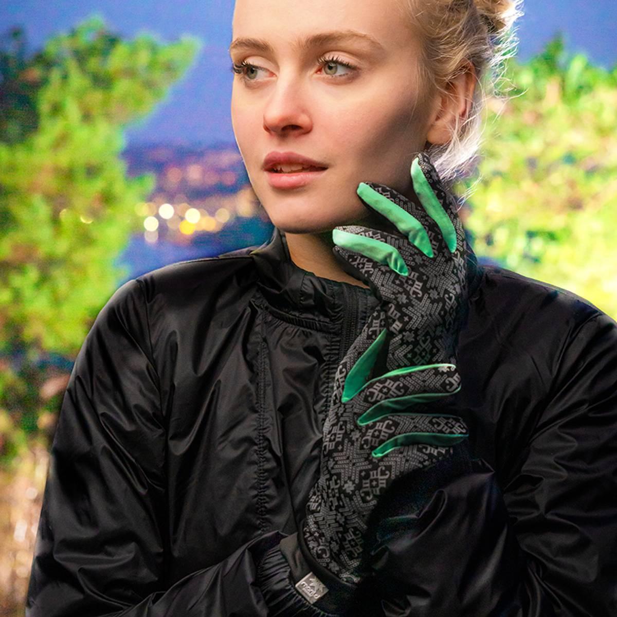 Morild Glitre hansker med refleks, mint