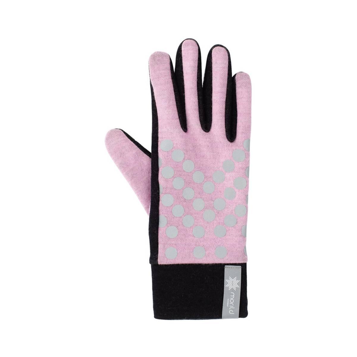 Morild Sølvfaks hansker med refleks, lys rosa