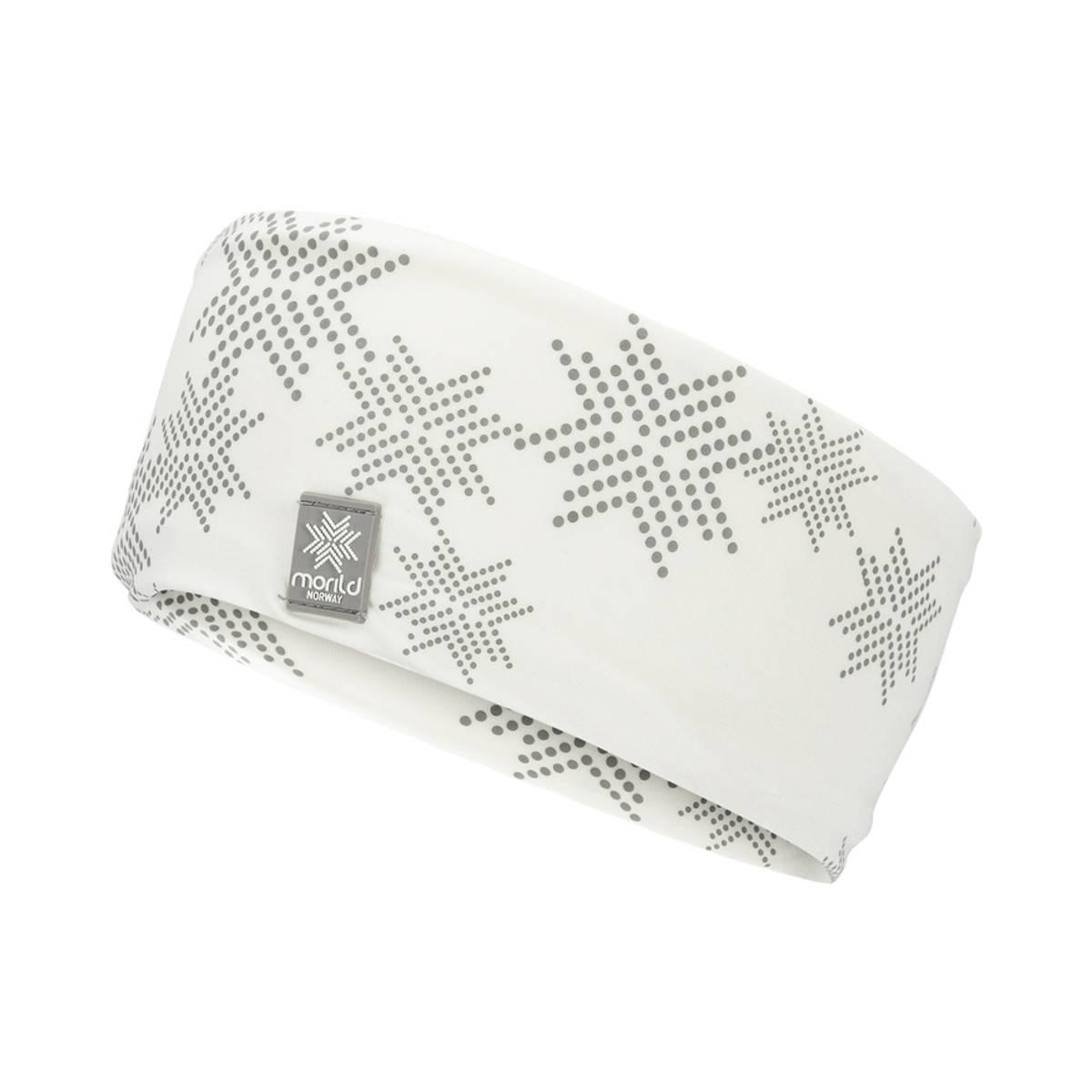 Morild Skimre Junior pannebånd med refleks, hvit
