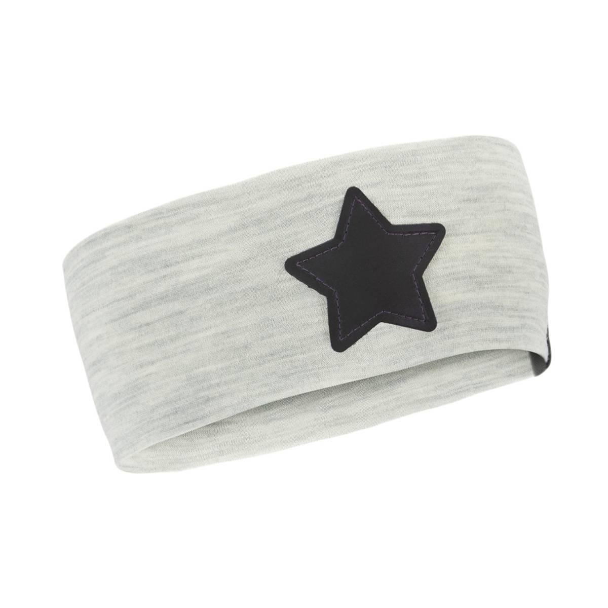 Morild Nordstjerne pannebånd med refleks, lys grå