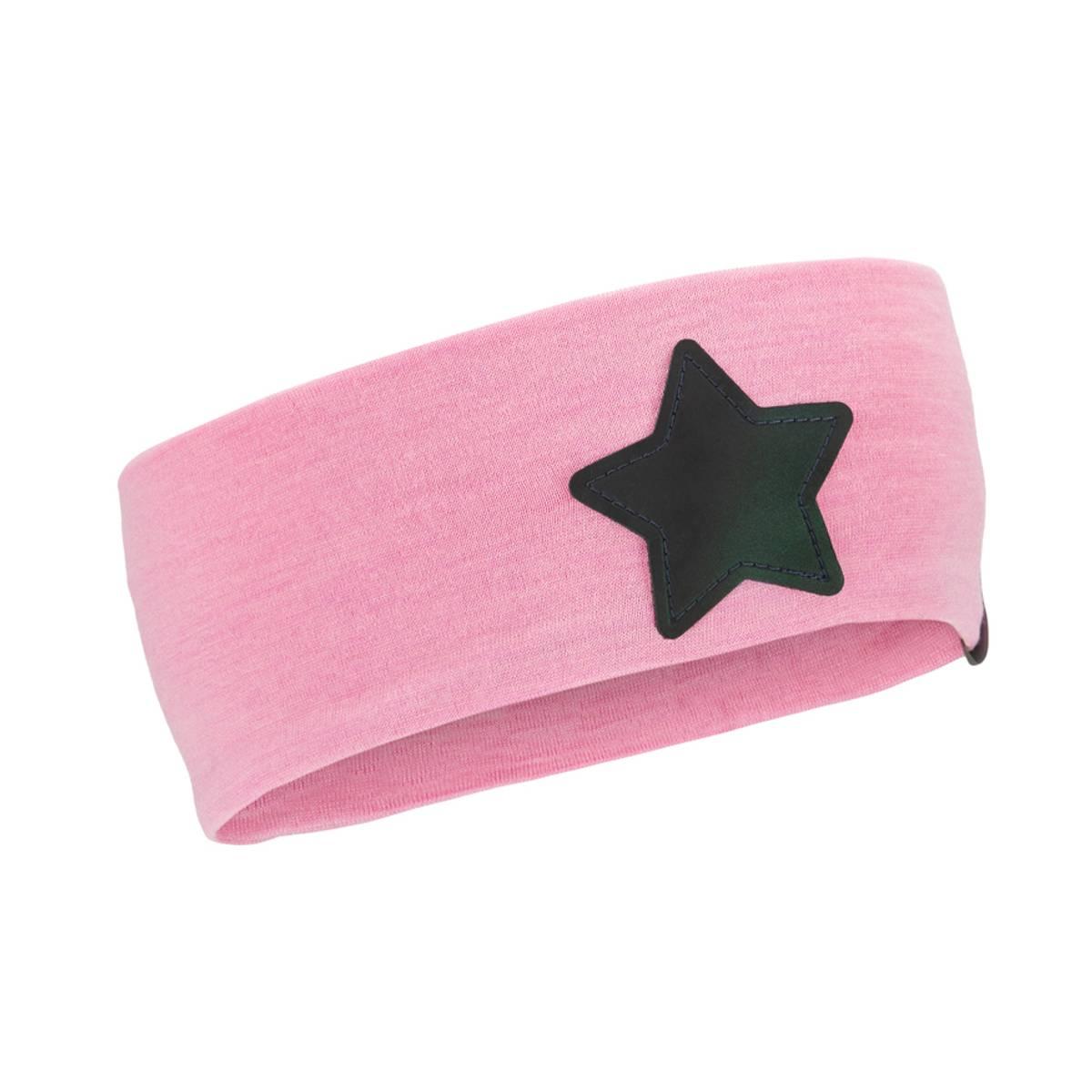 Morild Nordstjerne pannebånd med refleks, lys rosa