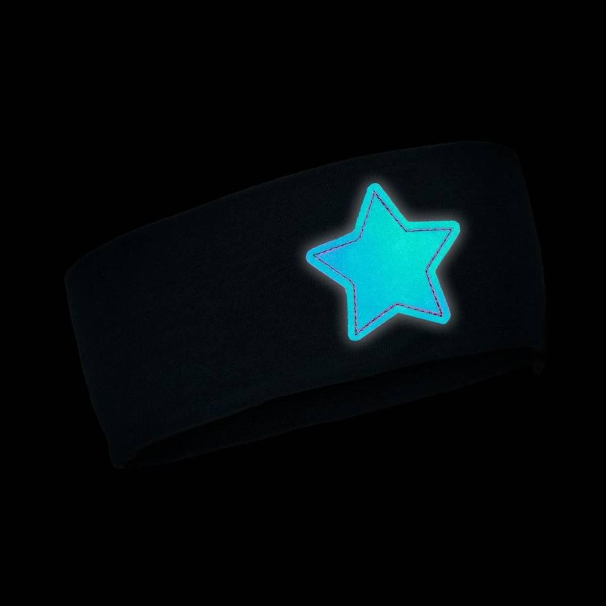 Morild Nordstjerne pannebånd med refleks, midnattsblå
