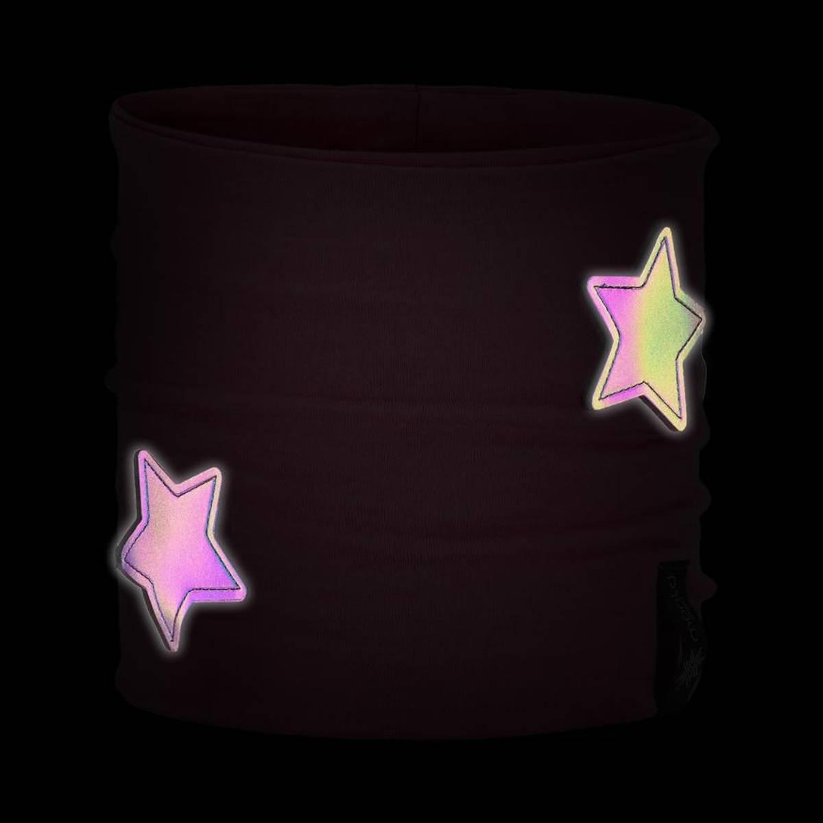 Morild Nordstjerne hals med refleks, lys rosa