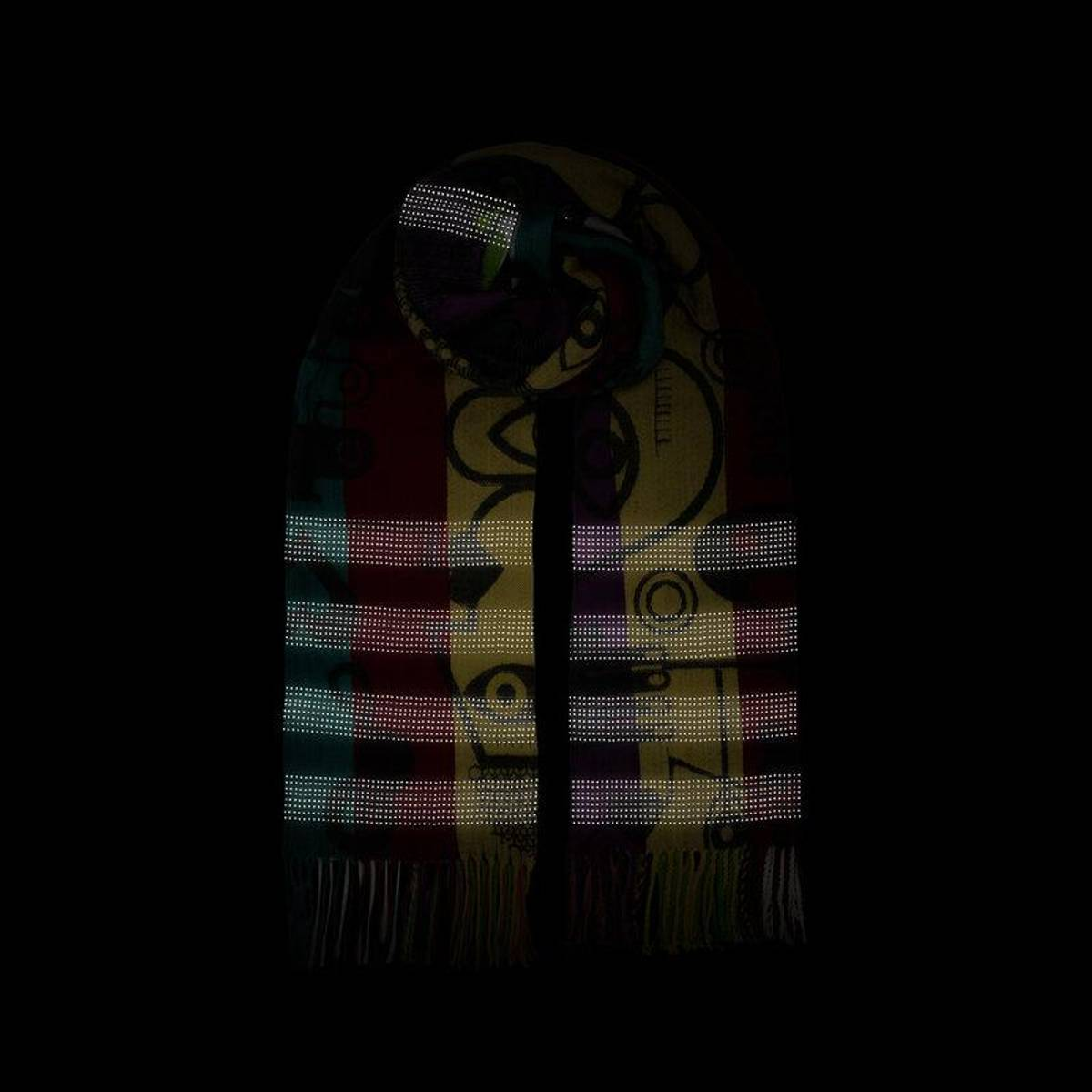 Morild Vilje skjerf med refleks, multifarge Maleri